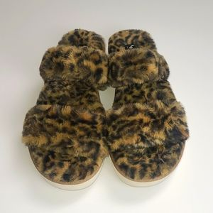 Koolaburra by Ugg Faux Fur Cheetah Print Slippers